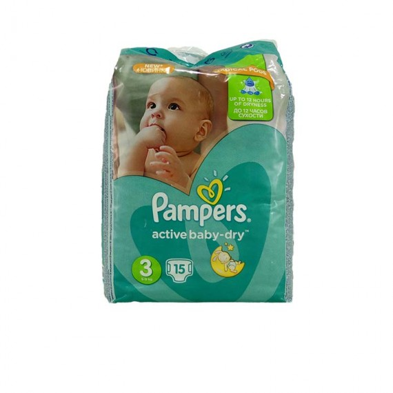 Diapers PAMPERS Micro 3 4-6kg 15pcs