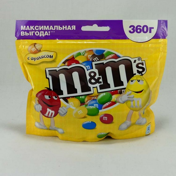 Candy M&M`s with nuts 360gr