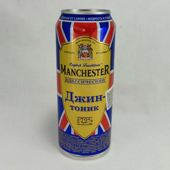 Low alcohol drink MANCHESTER gin + tonic 7.2% 0.5l