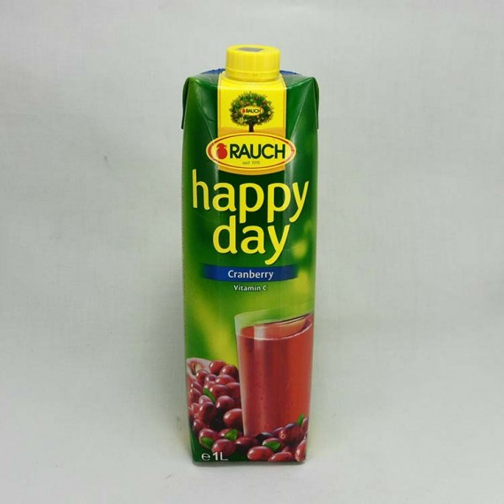 Natural juice HAPPY DAY cranberry 1l